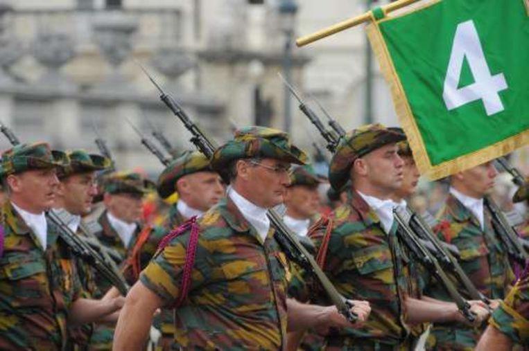 Deze Belgische soldaten namen deel aan operaties in Afrika. Beeld UNKNOWN