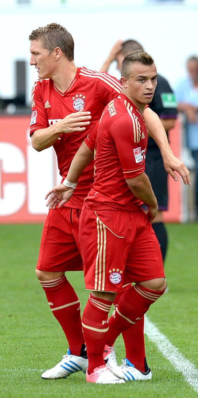 De ex-sleutelspeler van Bazel Shaqiri speelt momenteel voor Bayern München. Beeld EPA