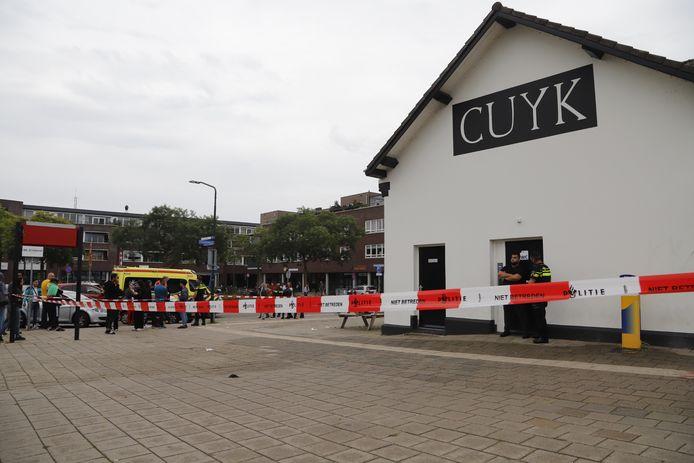 Het station in Cuijk, dinsdag na de steekpartij.