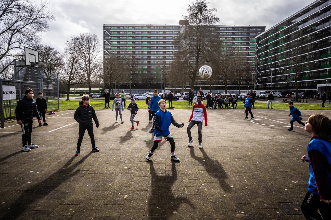 Vitesse cup gelderse plein initiatief van bouwbedrijf Van wijnen, vivare, en Vitesse betrokken. voetbaltoernooi voor de jeugd. Arnhem