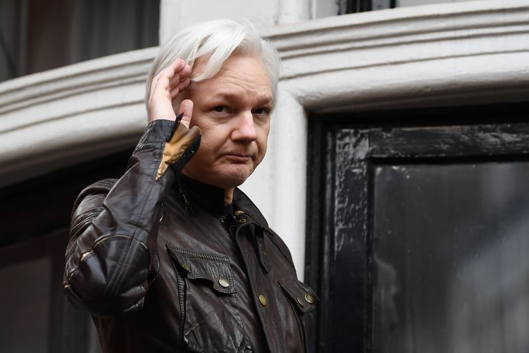 Julian Assange. Beeld AFP