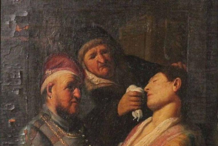 'De slapende', wellicht een echte Rembrandt. 'Het is altijd makkelijk speculeren, maar het lijkt inderdaad een spectaculaire vondst', zegt museumbaas Meta Knol. Beeld rv