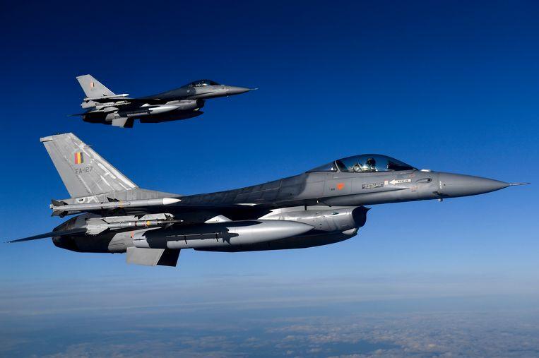 Archiefbeeld van Belgische F16's