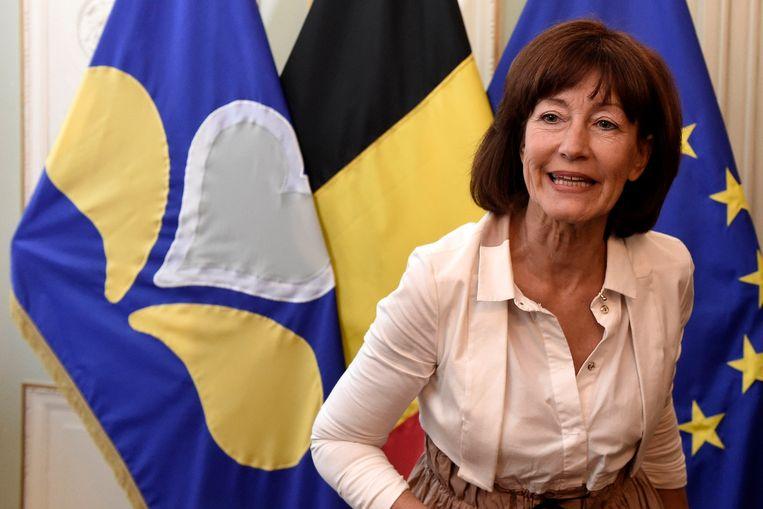 Laurette Onkelinx zegt dat een federale regering met PS en N-VA niet mogelijk is. Beeld Photo News