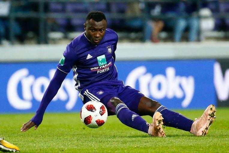 Bubacarr Sanneh verlaat Anderlecht. Beeld Photo News