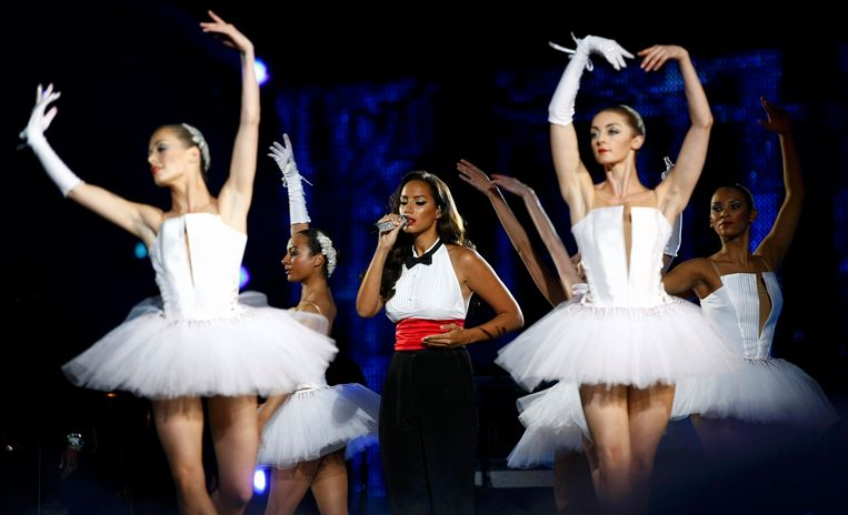 Leona Lewis performs during the