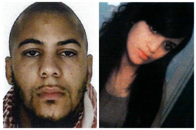 Franse jihadist Tyler Vilus en de Vlaamse Syriëstrijdster Inès Setfaoui. Beeld RV