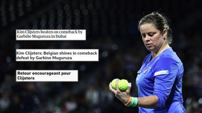 """""""Er zullen drie kinderen trots zijn op hun mama"""": ook internationale pers is lovend over comeback Clijsters"""