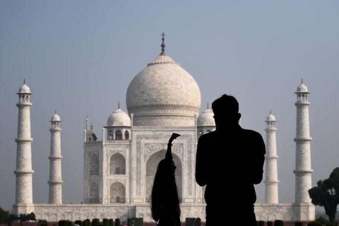 Le Taj Mahal en septembre 2020.