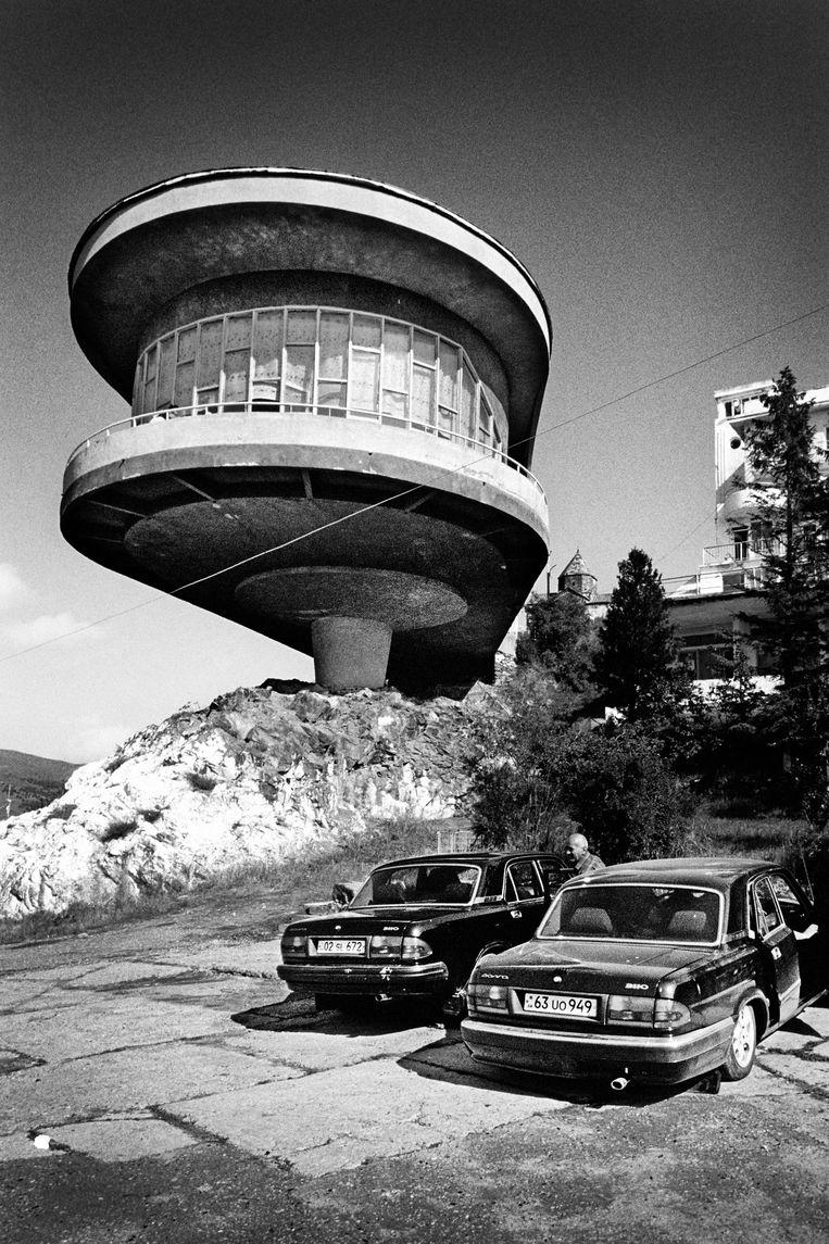 Het Lake Sevan Writer's Resort, een modernistisch meesterwerk inArmenië. Beeld Tim Dirven