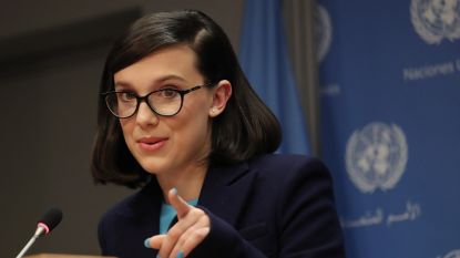 'Stranger Things'-actrice Millie Bobby Brown (14) wordt jongste UNICEF-ambassadeur ooit
