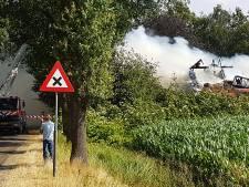 Brand verwoest zorgboerderij in Slagharen