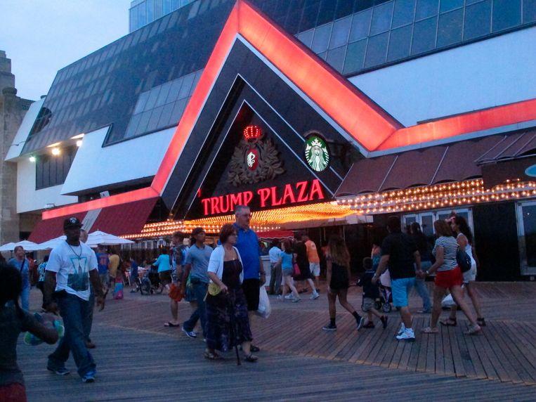 Beeld aan de ingang van het Trump Plaza casino in 2014. Beeld AP