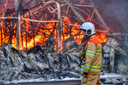 Er werden tientallen brandweermensen ingezet.