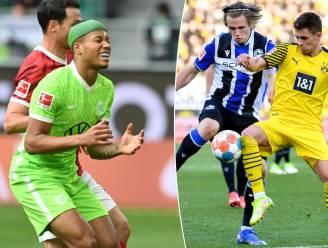 Dortmund recht de rug in Bundesliga na CL-blamage, ruime zeges voor Bayern en Leipzig en basisplek voor Vranckx bij verliezend Wolfsburg