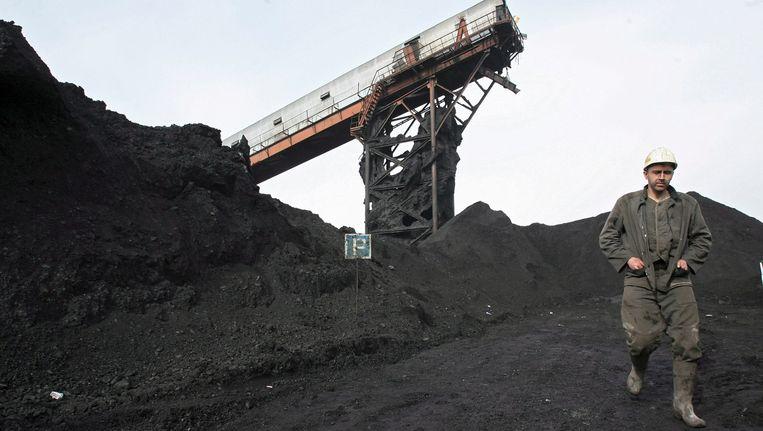 Een mijnwerker bij een Russische kolenmijn. Beeld anp