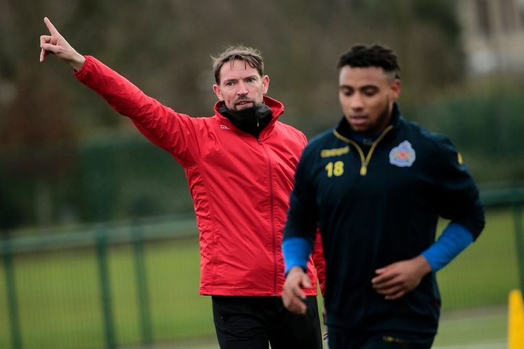 BEVEREN, BELGIUM - JANUARY 05 : Sven Vermant pictured during his first training session as head coach of Waasland Beveren on January 05, 2018 in Beveren, Belgium, 5/01/18 ( Photo by Jan De Meuleneir / Photonews