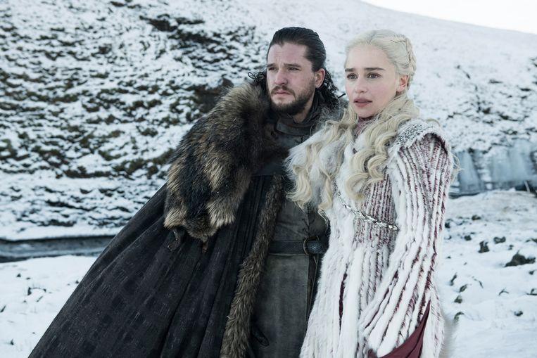 Kit Harington en Emilia Clarke in het laatste seizoen van 'Game of Thrones' Beeld HBO