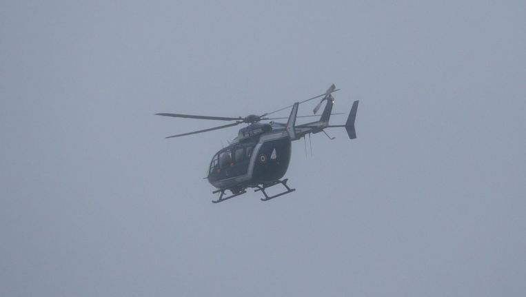 Helikopter van de Franse politie. Beeld afp