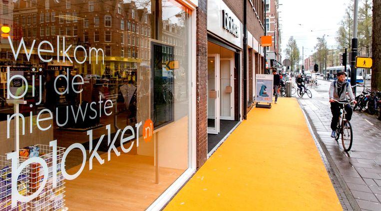 De eerste nieuwste Blokker in de Amsterdamse Bilderdijkstraat. Beeld anp