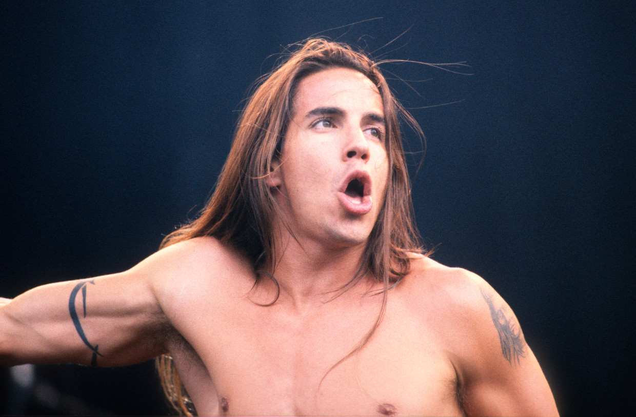 Anthony Kiedis in 1992. Beeld Getty Images