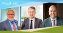 Drie vertegenwoordigers van Food NL met vlnr: burgemeester Kees van Rooij van Meierijstad (namens Agrifood Capital), wethouder Leon Meijer van de gemeente Ede (Regio Foodvalley) en wethouder Rudy Tegels van de gemeente Horst aan de Maas (Greenport Venlo).