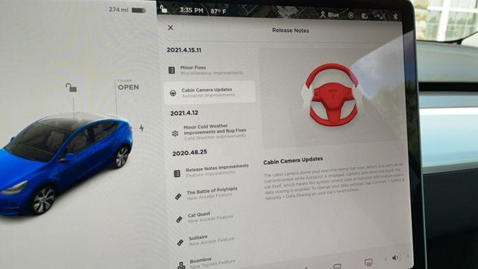 Tesla-gebruiker Kevin Smith ontdekte als een van de eersten de update van de boordcamera in zijn Model Y.