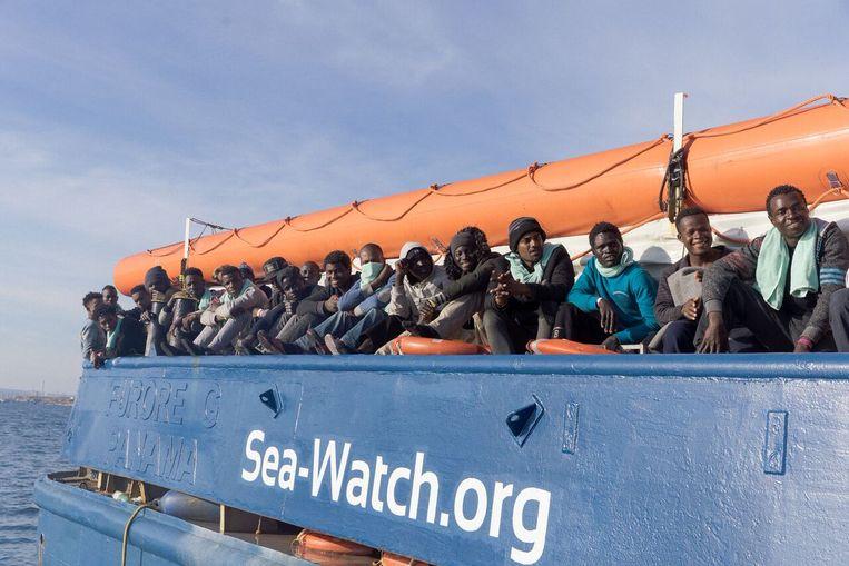Reddingsschip van Sea-Watch. Beeld Sea-Watch International