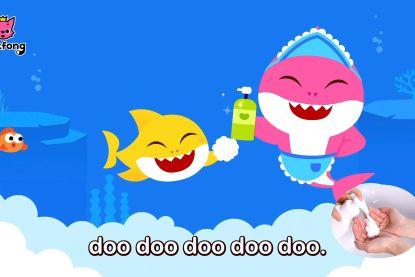 Virale Baby Shark-hit komt met nieuwe video die kinderen helpt hun handen juist te wassen