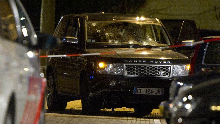 B.A. zat waarschijnlijk met de twee geliquideerde slachtoffers en nog een vierde man in de Range Rover die op 29 december doelwit was van de wildwestschietpartij in de Staatsliedenbuurt. Beeld ANP