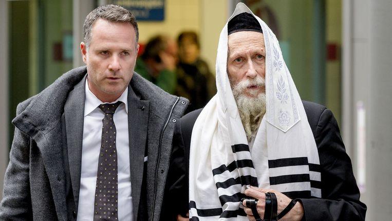 Rabbijn Berland (rechts) Beeld anp