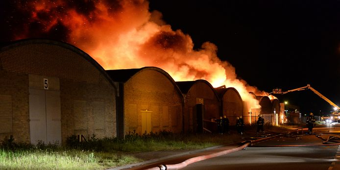 Brand bij de Vrije Markt in Cuijk.