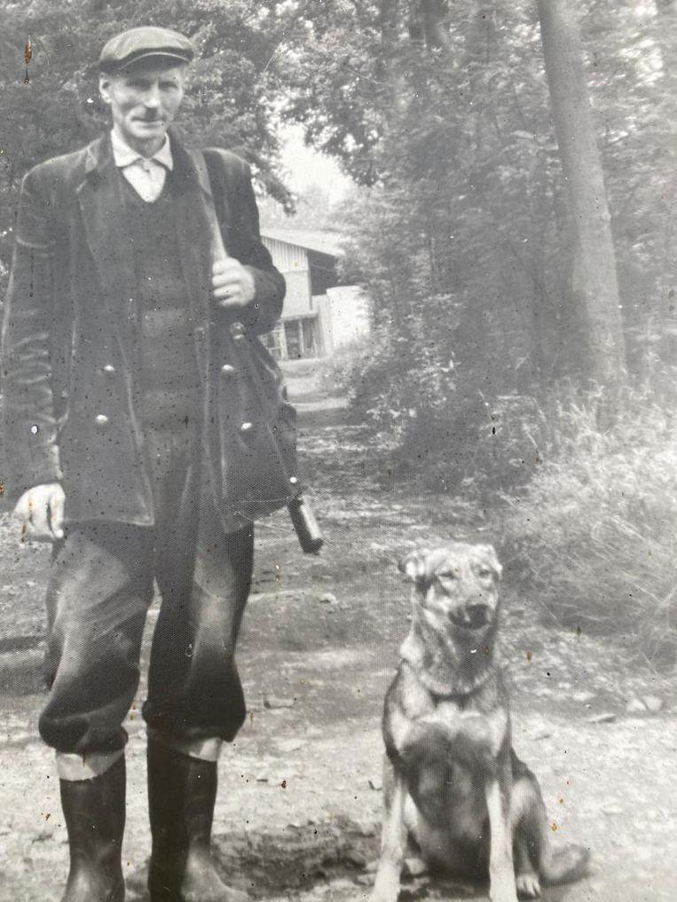 Overgrootvader Verbeke werd boswachter begin 1940. Bijnaam in de familie: peter Bos. Beeld RV