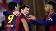 Barça neemt, ondanks penaltymisser Neymar, al flinke optie op bekerfinale