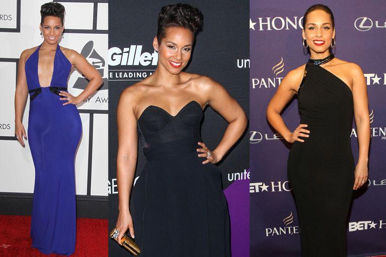 Alicia Keys en de truc van de slanke arm.