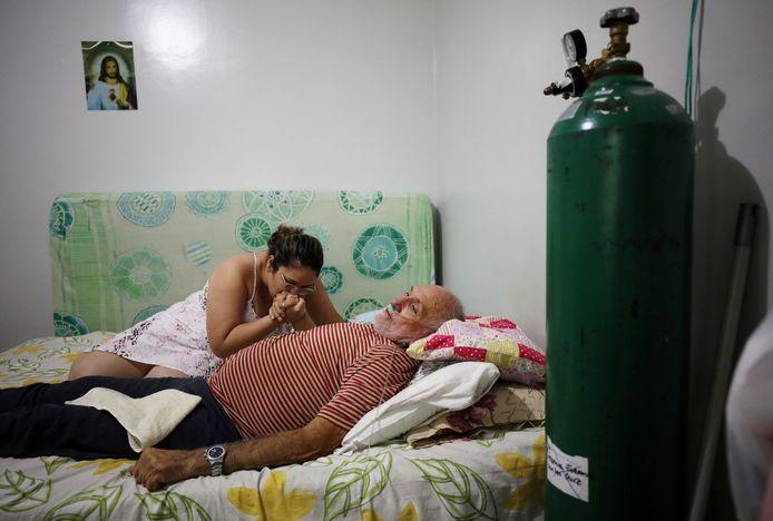 Osmar Magalhães en zijn dochter Karoline.