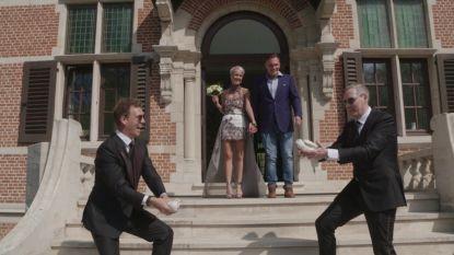 Gert en James oefenen al even voor The Royal Wedding