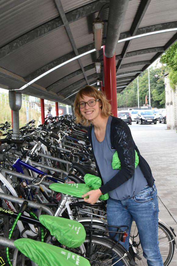 Archiefbeeld : Schepen Bleyenberg bij de voorstelling van het mobiliteitsplan voor Melle.