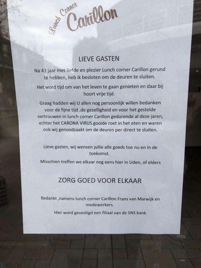 Het briefje van Frans van Marwijk.