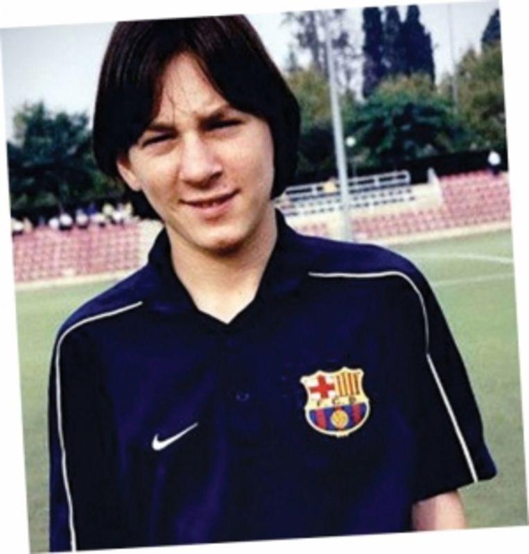 'Lionel Messi kreeg zijn eerste bal toen hij 4 jaar was en vanaf dan waren hij en de bal onafscheidelijk.' Beeld