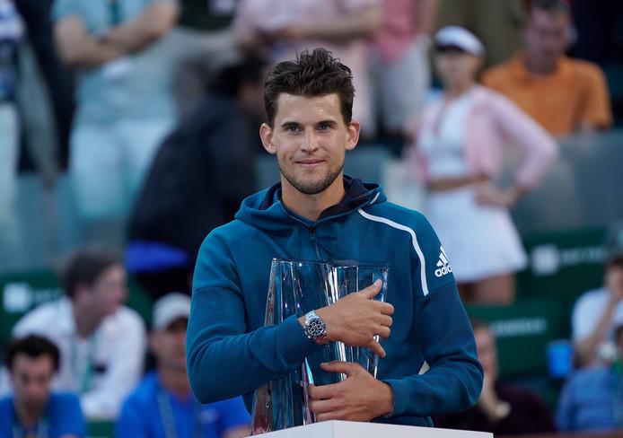 Thiem wint het toernooi van Indian Wells.