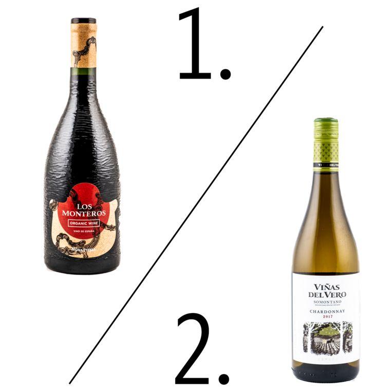 Delhaize 1. Los Monteros Organic 2. Viñas del Vero Beeld Bart Leye