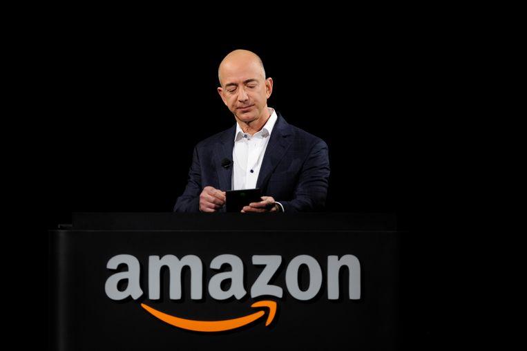 Jeff Bezos (Amazon) is voor het vierde jaar op rij de rijkste persoon op aarde. Beeld REUTERS