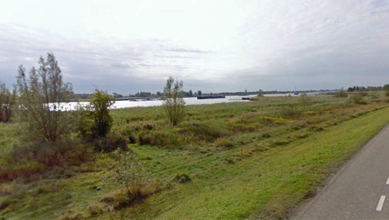 Een deel van de Lekdijk-West in Bergambacht. Beeld Google Streetview
