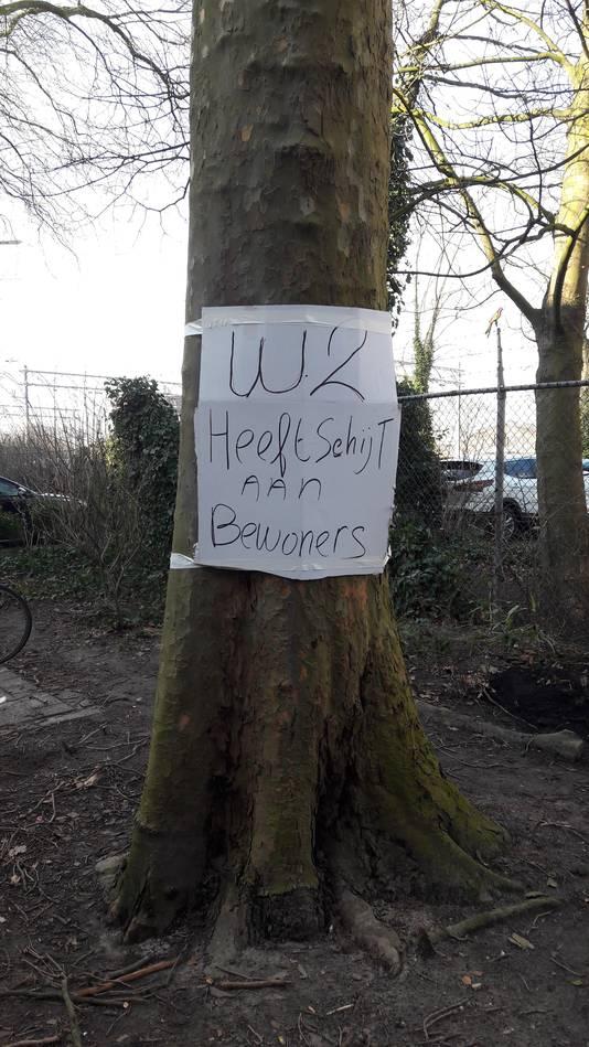 Protestborden aan de Boschveldweg