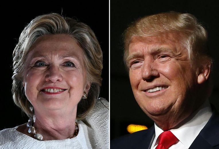 Democraat Hillary Clinton vs Republikein Donald Trump Beeld ANP