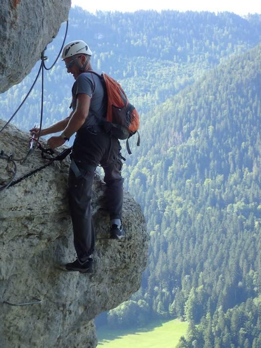 Duiker Ben Stiefelhagen aan het berg beklimmen.