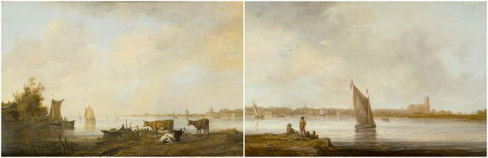 De werken 'Riviergezicht bij Dordrecht' en 'Gezicht op Dordrecht' waren ooit één geheel.
