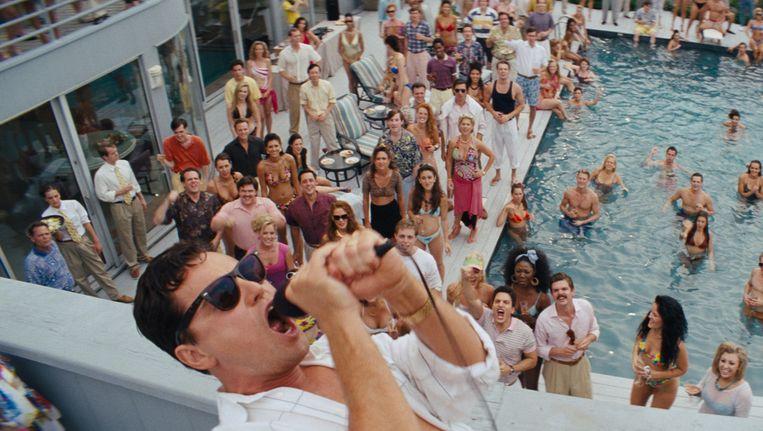 Leonardo DiCaprio als Jason Belfort in 'The Wolf of Wall Street'. Beeld kfd