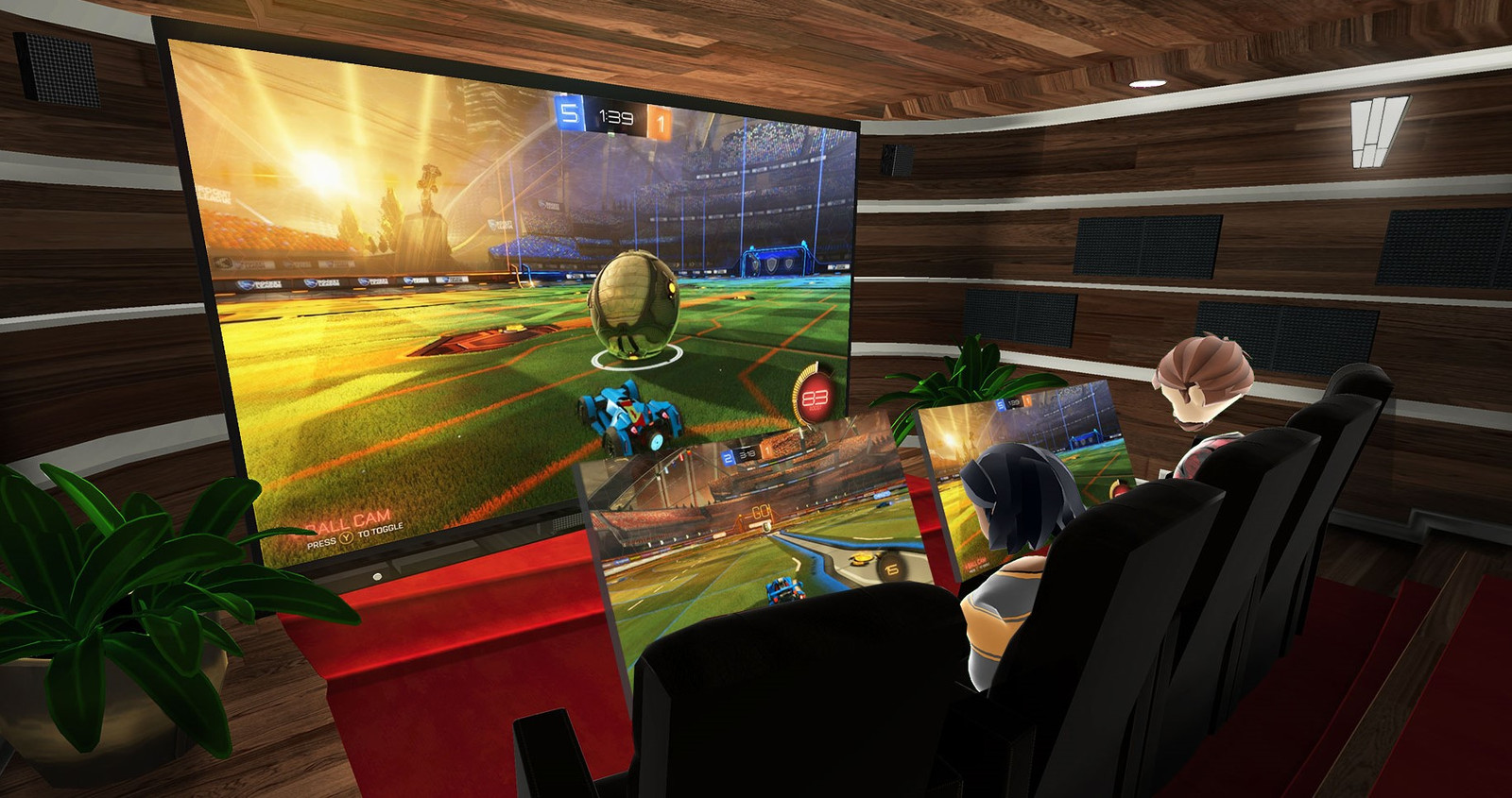 In Bigscreen kun je samen met vrienden naar de virtuele bioscoop.
